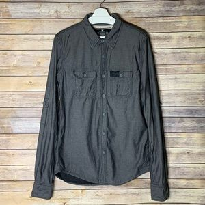 SUPERDRY Gray Button Up Shirt